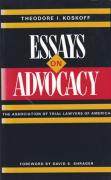 Cover of Essays on Advocacy