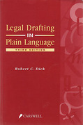 Cover of Legal Drafting in Plain Language