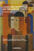 Cover of Cases and Materials on the Law of Torts
