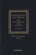 Cover of Oosterhoff on Trusts: Text, Commentary and Materials