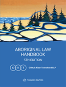Cover of Aboriginal Law Handbook