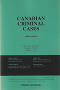 Cover of Canadian Criminal Cases: Parts and Bound Volumes