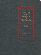 Cover of The Art and Science of Advocacy Looseleaf