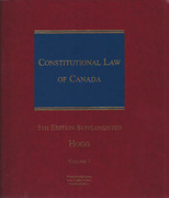 Cover of Constitutional Law of Canada 5th ed Looseleaf