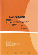 Cover of Australian Anti-Discrimination Law: Text, Cases and Materials