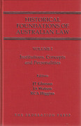 Cover of Historical Foundations of Australian Law Set
