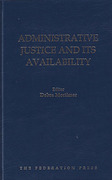 Cover of Administrative Justice and Its Availability
