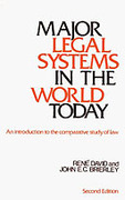 Cover of Major Legal Systems in the World Today: An Introduction to the Comparative Study of Law