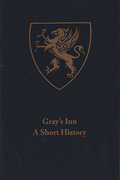 Cover of Gray's Inn: A Short History