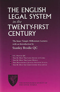 Cover of The English Legal System in the Twenty-First Century: The Inner Temple Millenium Lectures