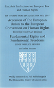 Cover of Sir Thomas More Lectures 2004 and 2005: Accession of the EU to the ECHR & Fundamental Rights and Fundamental Freedoms