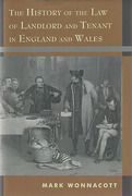 Cover of The History of the Law of Landlord and Tenant in England and Wales