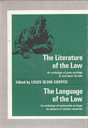 Cover of Boxed Set: The Literature of the Law & The Language of the Law