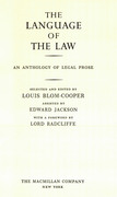 Cover of The Language of the Law: An Anthology of Legal Prose