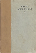 Cover of The Special Land Tenure Bill of 1911: A Critical Analysis