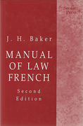 Cover of Manual of Law French