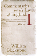 Cover of Commentaries on the Laws of England: Volume 1