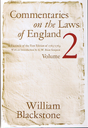 Cover of Commentaries on the Laws of England: Volume 2