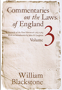 Cover of Commentaries on the Laws of England: Volume 3