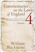 Cover of Commentaries on the Laws of England: Volume 4