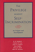 Cover of The Privilege Against Self Incrimination