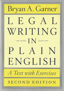 Cover of Legal Writing in Plain English: A Text with Exercises