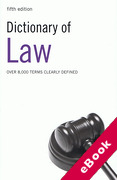 Cover of Dictionary of Law (eBook)