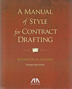 Cover of A Manual of Style for Contract Drafting
