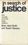 Cover of In Search of Justice: Law, Society and the Legal System