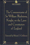 Cover of The Commentaries of Sir William Blackstone, Knight, on the Laws and the Constitution of England