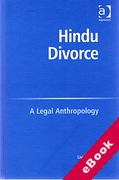 Cover of Hindu Divorce: A Legal Anthropology (eBook)