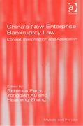 Cover of China's New Enterprise Bankruptcy Law: Context, Interpretation and Application