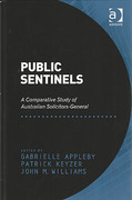 Cover of Public Sentinels: A Comparative Study of Australian Solicitors-General