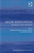 Cover of Legal Education: Simulation in Theory and Practice
