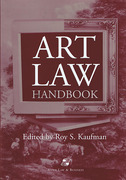 Cover of Art Law Handbook with 2004 Cumulative Supplement