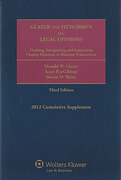 Cover of Glazer and FitzGibbon on Legal Opinions: Drafting, Interpreting, and Supporting Closing Opinions in Business Transactions 3rd ed
