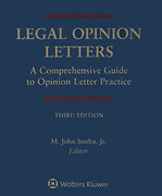 Cover of Legal Opinion Letters: A Comprehensive Guide to Opinion Letter Practice Looseleaf