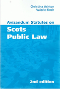 Cover of Avizandum Statutes on Scots Public Law