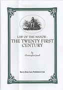 Cover of Law of the Manor: The Twenty First Century