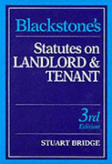 Cover of Blackstone's Statutes on Landlord and Tenant