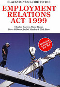 Cover of Blackstone's Guide to the Employment Relations Act 1999