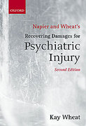 Cover of Napier and Wheat's Recovering Damages for Psychiatric Injury
