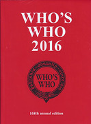 Cover of Who's Who 2016