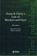 Cover of Pease & Chitty's Law of Markets and Fairs