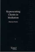 Cover of Representing Clients in Mediation