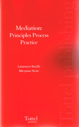 Cover of Mediation: Principles Process Practice
