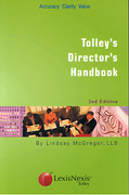 Cover of Tolley's Director's Handbook