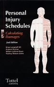Cover of Personal Injury Schedules: Calculating Damages