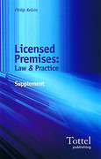 Cover of Licensed Premises: Law and Practice: 2005 Supplement