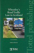 Cover of Road Traffic Law in Scotland